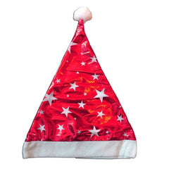 Fancy Dress Costume Accessory - Shiny Christmas Santa Claus Hat with Stars