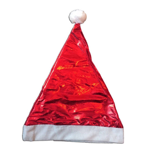 Fancy Dress Costume Accessory - Shiny Christmas Santa Claus Hat