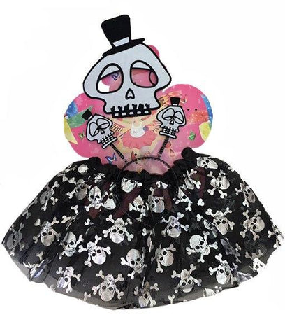 Fancy Dress Costume - Black Sugar Skulls Tutu Dress Up Set