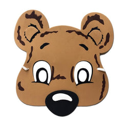 Childrens Masks - Koala Bear Childrens Foam Animal Mask - Brown