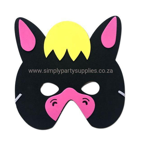 Donkey  Childrens Foam Animal Mask - Black