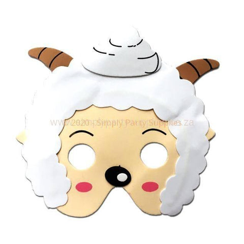 Goat Childrens Foam Animal Mask - Light Face animals, boys, child one size, childrens, fancy dress, foam, girls, goat, half masks, masks, ram