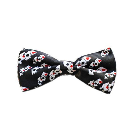 Satin Bow Tie - Casino Theme 1920's, adult one size, alice in wonderland, black, bow tie, bow tie only, boys, casino, childrens, costume, fancy dress, gangster, great gatsby, maffia, mafia, magician, mens