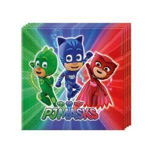 PJ Masks Napkins - Pack Of 20 boys, childrens, disney, girls, licensed, napkins, party supplies, PJ masks, pjmasks, serviettes, superhero