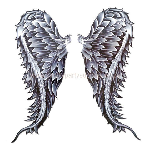 Angel Wings Large Temporary Tattoo angel, black, large, tattoo, tribal, wholesale, wing, wings