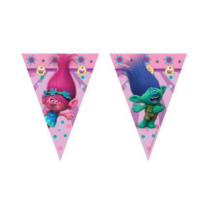 Trolls Party Decor Banner 2.3m