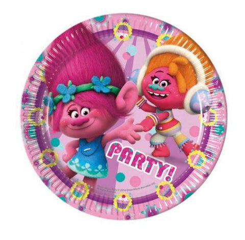 Trolls Paper Plates - Pack Of 8