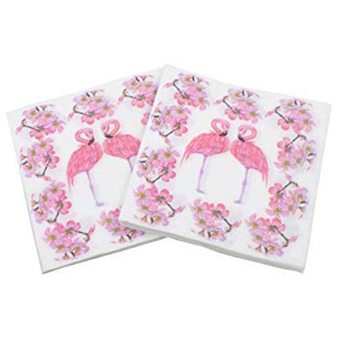 Flamingo Napkins - Pack Of 20 childrens, flamingo, girls, napkins, party supplies, pink, serviettes