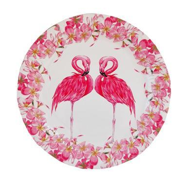 Flamingo Paper Plates - Set of 10 character, childrens, girls, paper, party supplies, plate