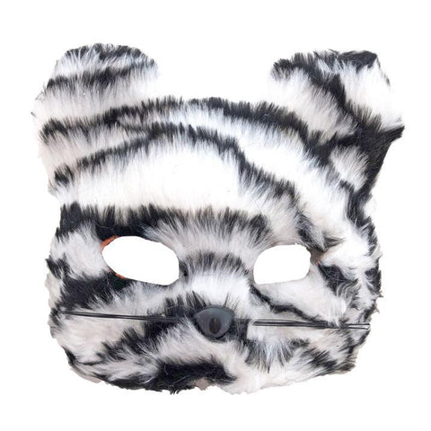 Striped Furry Bear Mask