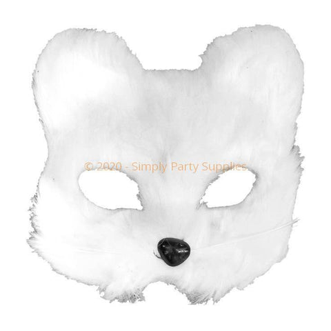 White Furry Bear Mask