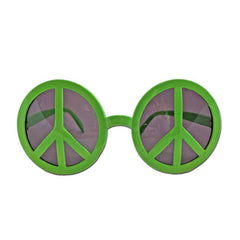 Glasses - Green Hippie Style Fancy Dress Glasses