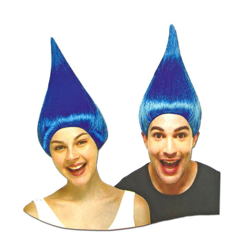 Trolls Blue Adult Wig