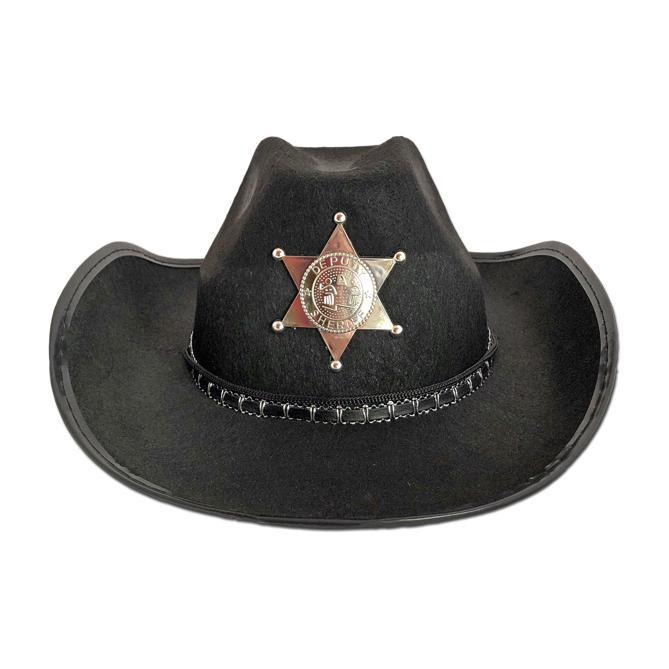 Cowboy / Sheriff Hat - Black accessories, adult, black, childrens, costume, cowboy, cowgirl, fancy dress, hats, mens, womens