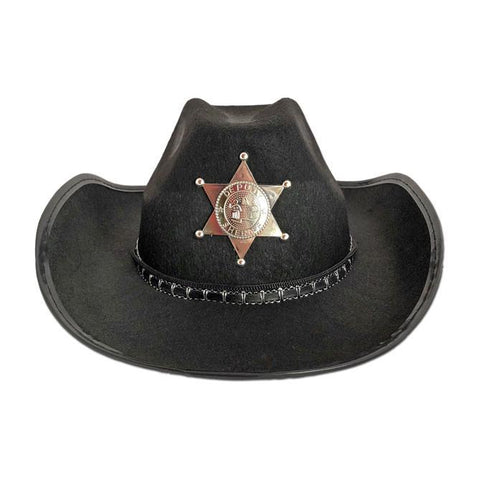 Cowboy / Sheriff Hat - Black