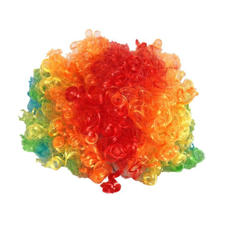 Colourful Rainbow Clowns Wig - wig - Simply Party Supplies