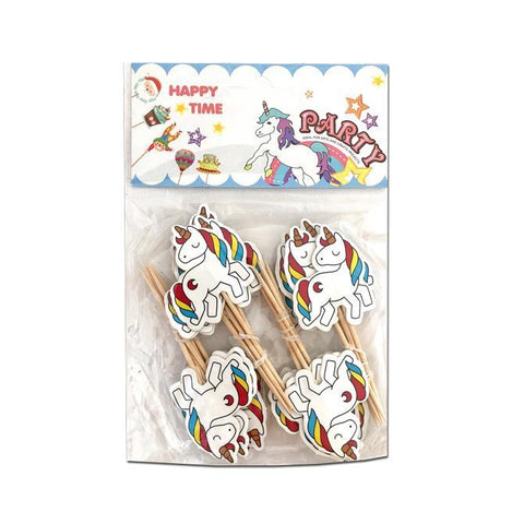 Rainbow Unicorn Cupcake Toppers - 24pc