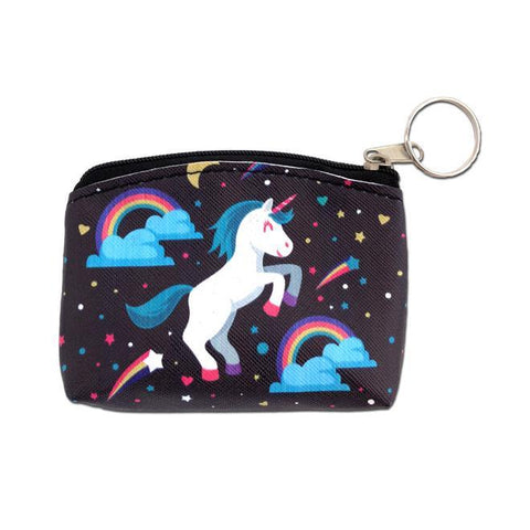 Rainbow Unicorn Mini Coin Purse Party Favour
