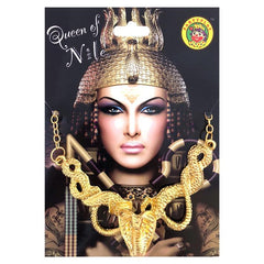 jewellery - Queen of the Nile Golden Snake Necklace