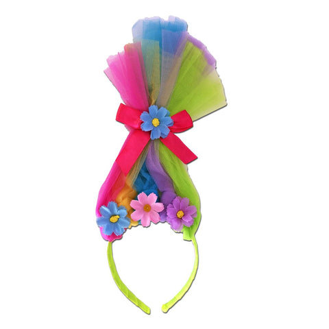 Trolls Head Piece Aliceband Rainbow