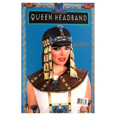 Egyptian Queen Headband accessories, adult one size, costume, egyptian, fancy dress, gold, headband, pharoah, womens