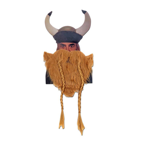 Brown Viking Beard With Plaits accessories, beard, costume, facial hair, fancy dress, mens, viking