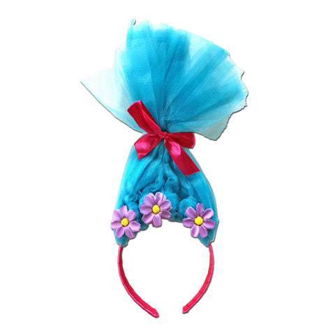 Trolls Head Piece Aliceband Blue