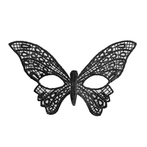 Economy Butterfly String Masquerade Mask Black