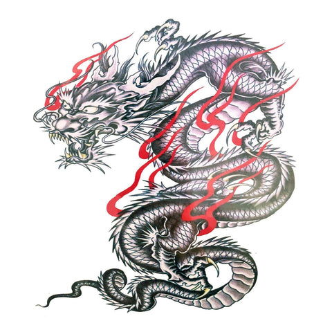 Dragon Blood Large Temporary Tattoo animal, black, dragon, large, tattoo, wholesale