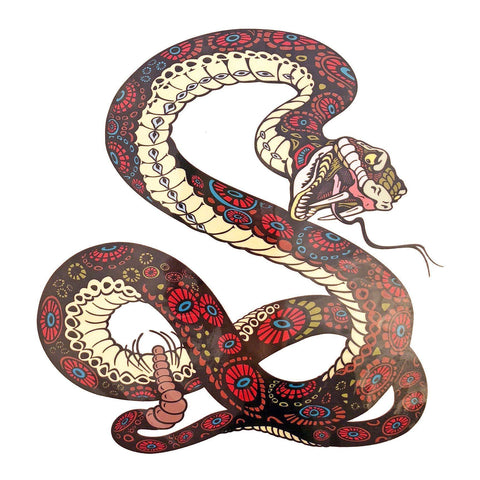 Rattlesnake Large Temporary Tattoo animal, colour, large, snake, tattoo, wholesale