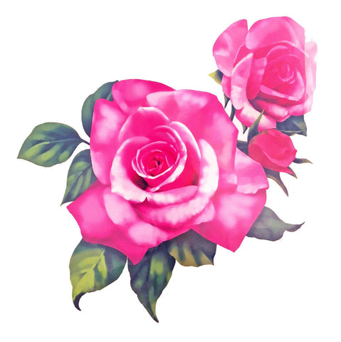 Two Roses Large Temporary Tattoo colour, flower, large, rose, stock, tattoo, wholesale