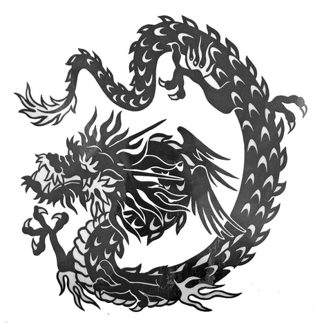 Dragon Large Temporary Tattoo black, dragon, large, tattoo, tribal, wholesale