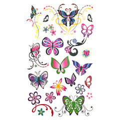 Childrens Funky Design 6 Tattoo Sheet animal, butterfly, childrens, colour, girl, girls, kids, tattoo, wholesale