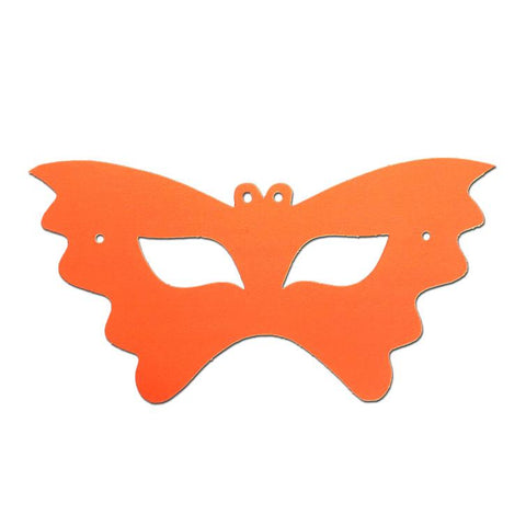 Butterfly Childrens Cardboard Neon Mask - Orange animals, butterfly, cardboard cutout, child one size, childrens, clearance, girls, half masks, masks