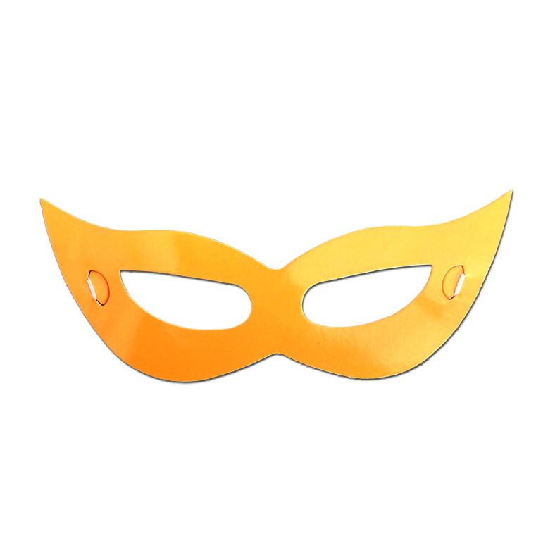 Childrens Masks - Childrens Pointy Cardboard Neon Mask - Orange