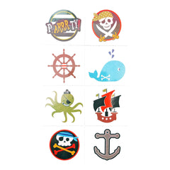 Childrens Pirate Temporary Tattoo Sheet boy, boys, childrens, colour, girl, girls, kids, pirate, pirates, stock, tattoo, wholesale
