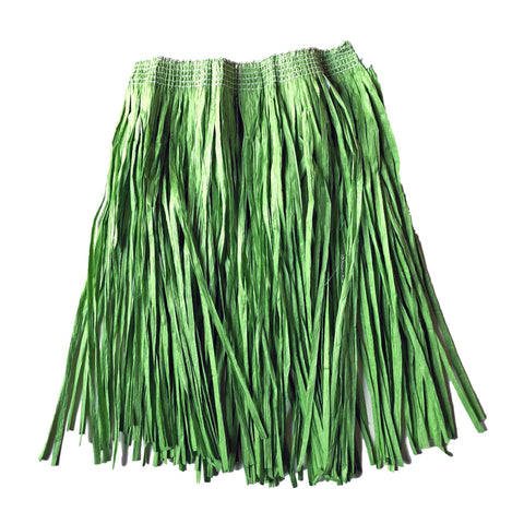 Adults Hawaiian Raffia Grass Skirt 40cm - Green accessories, costume, fancy dress, grass skirt, green, hawaii, luau, moana, raffia skirts, tropical island, womens