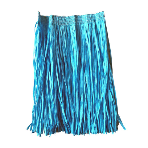 Childrens Hawaiian Raffia Grass Skirt 30cm - Blue accessories, blue, childrens, costume, fancy dress, girls, grass skirt, hawaii, luau, moana, raffia skirts, tropical island, turquoise, womens