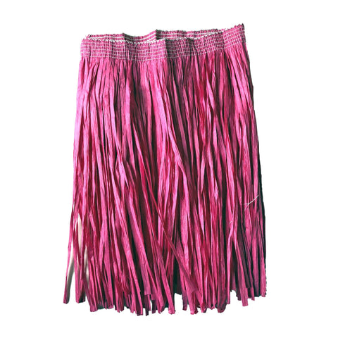Childrens Hawaiian Raffia Grass Skirt 30cm - Cerise Pink accessories, childrens, costume, fancy dress, girls, grass skirt, hawaii, luau, moana, pink, raffia skirts, tropical island, womens