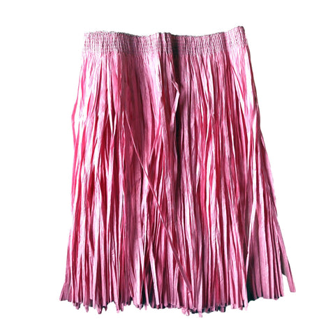 Childrens Hawaiian Raffia Grass Skirt 30cm - Light Pink accessories, childrens, costume, fancy dress, girls, grass skirt, hawaii, luau, moana, pink, raffia skirts, tropical island, womens