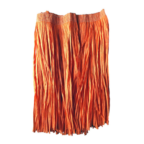 Childrens Hawaiian Raffia Grass Skirt 30cm - Orange accessories, childrens, costume, fancy dress, girls, grass skirt, hawaii, luau, moana, orange, raffia skirts, skirt, tropical island, womens