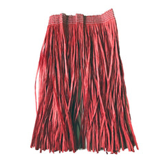 Childrens Hawaiian Raffia Grass Skirt 30cm - Red accessories, childrens, costume, fancy dress, girls, grass skirt, hawaii, luau, moana, raffia skirts, red, tropical island, womens