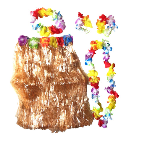 Hawaiian Garland Dress Up Set accessories, childrens, costume, fancy dress, girls, hawaii, hawaiian, headband, lei, moana, tropical island, womens