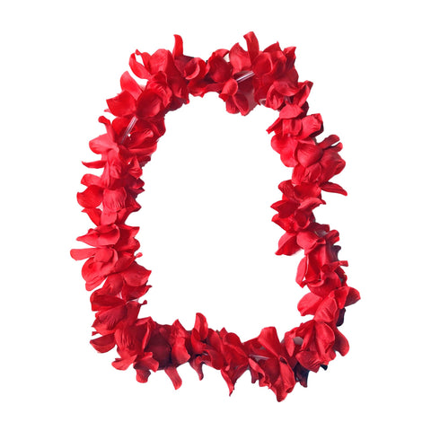 Fancy Dress Costume Accessory - Floral Lei - Red