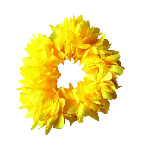 Floral Headband - Yellow accessories, childrens, costume, fancy dress, girls, hat, hats, hawaii, headband, luau, moana, tropical island, womens, yellow