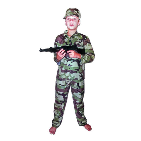 Childrens Army Costume Ages 7-9 army, boys, career, career day, childrens, costume, fancy dress, military, soldier