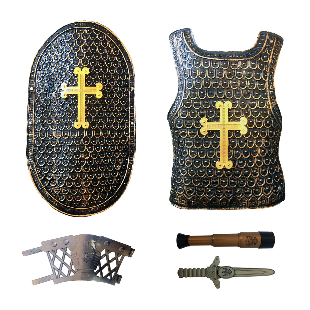 Childrens Deluxe Medieval King Dagger Armor Set Ages 5-8 - Fancy Dress Costume - Simply Party Supplies