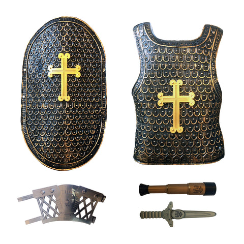 Childrens Deluxe Medieval King Dagger Armor Set Ages 5-8