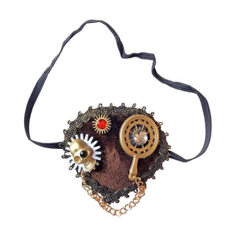 Steampunk Eye Patch accessories, cosplay, eye patch, fancy dress, funny, glasses, masquerade, mens, steam punk, steampunk, womens