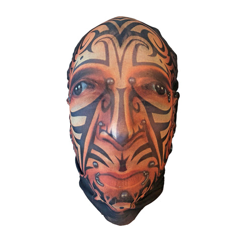 Tattood Face Stocking Mask fancy dress, halloween, masks, mens, scary, stocking, stocking mask, tattoo